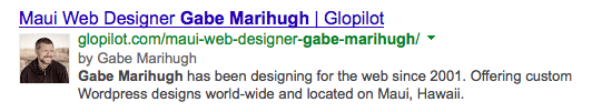 Google Authorship Entry for Gabe Marihugh